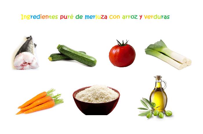 Pur de merluza con arroz y verduras hijos y alimentaci n - Arroz con pescado y verduras ...